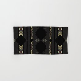 Southwestern Black Diamond Stripe Patterns Hand & Bath Towel