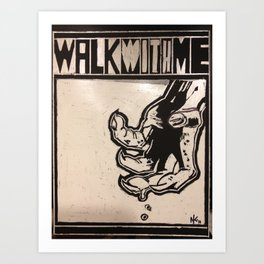 walkwithme. Art Print