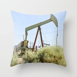Oil Rig I Throw Pillow