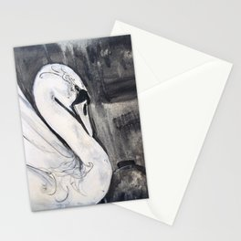 Swan Storm Stationery Cards