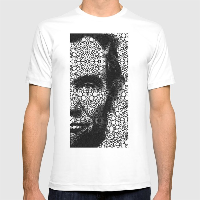 Abraham lincoln an american president stone rock 39 d art for T shirt printing lincoln