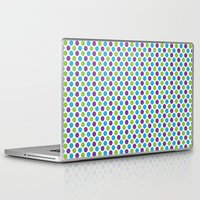 monsters inc Laptop & iPad Skins featuring Monsters, Inc. Polka Dots by Jennifer Agu