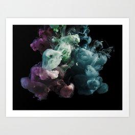 Colored Smoke One Art Print