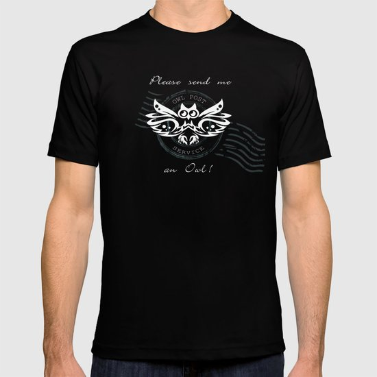 send me an owl ~ black T-shirt