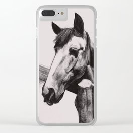 Horse Greeting A Stranger Clear iPhone Case