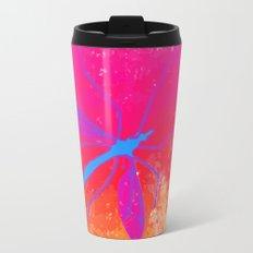 blue insect Metal Travel Mug
