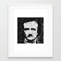 poe Framed Art Prints featuring Poe by Artstiles