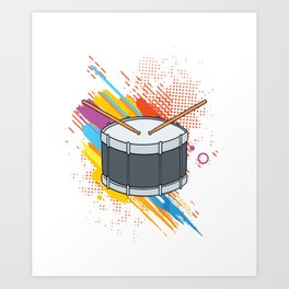 Drumline Drums Drumming Marching Band Drummer Gift Art Print