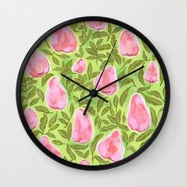 Summer Rose Apple : Jambu Air Wall Clock