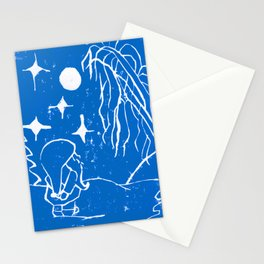 The Winter Elf - Snow Blue Stationery Cards
