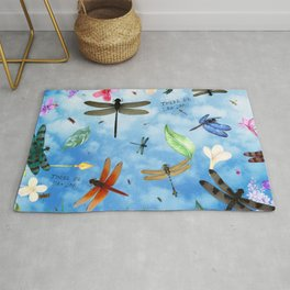 There Be Dragons - Dragonfly Fantasy Rug