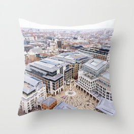 City View over London from St. Paul's Cathedral 2 Throw Pillow
