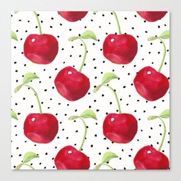 Cherry pattern II Canvas Print