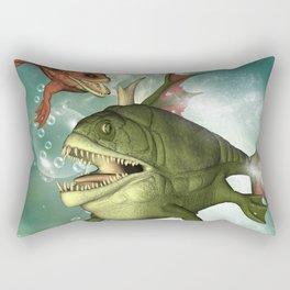 Armour fish Rectangular Pillow
