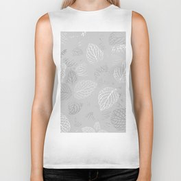 Autumn, Leaves Pattern 18 Biker Tank