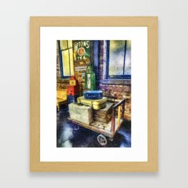 Luggage at the Station Framed Art Print