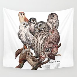 Owls of the Northeast Wall Tapestry