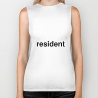 resident evil Biker Tanks featuring resident by linguistic94