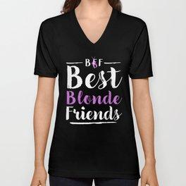 BFF Best Friends Blonde Blonde Girls Partner Look Unisex V-Neck