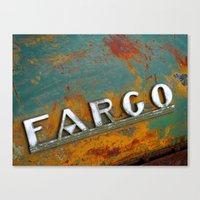 fargo Canvas Prints featuring Fargo by Photo by Malin Linder