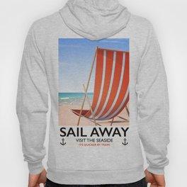Sail Away Deckchair travel poster Hoody