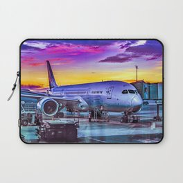 Plane Parked at Barajas Airport, Madrid, Spain Laptop Sleeve
