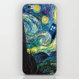 Tardis Art Starry Painting Night iPhone Skin