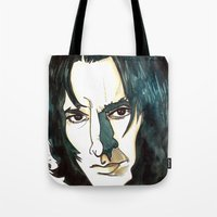 snape Tote Bags featuring Professer Snape by Boni Dutch