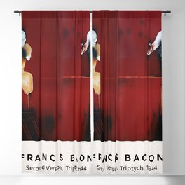 Francis Bacon - Second Version, Triptych, 1944 - Vintage Exhibition Poster, Gallery Print, Museum Print Blackout Curtain