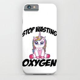 Cute anime unicorn t shirt for misanthrope  iPhone Case