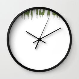 Momster Halloween Funny Cute TShirt for Moms Wall Clock