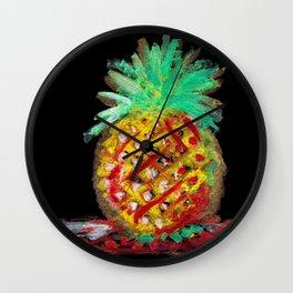 Dilapidated Pineapple Wall Clock
