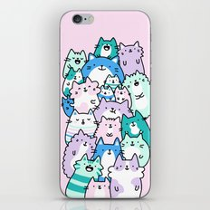 Pastel Pile of Cats iPhone & iPod Skin