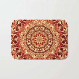 Flower Of Life Mandala (Cherry Sunset) Bath Mat