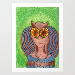 Owley!  Art Print
