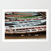 boats Art Prints featuring Boats by BTP Designs