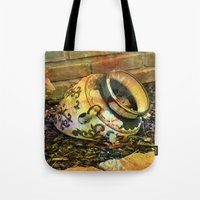 cracked Tote Bags featuring Cracked by BeachStudio