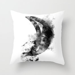 Touched By The Moon Throw Pillow