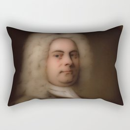George Frideric (or Frederick) Handel (born Georg Friedrich Händel) by Balthasar Denner (c. 1726–172 Rectangular Pillow