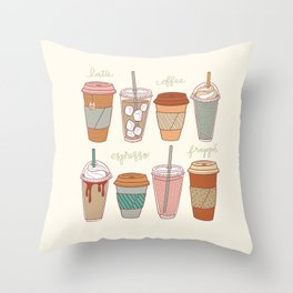 Latte Love Throw Pillow