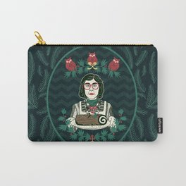 Yule Log Lady (in Green) Carry-All Pouch