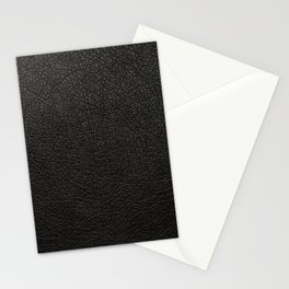 Black Leather Stationery Cards
