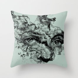 Breathe In Smoke, Spit Out Ash Throw Pillow