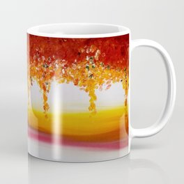 """Autumn"" Original oil finger painting by Monika Toth Coffee Mug"