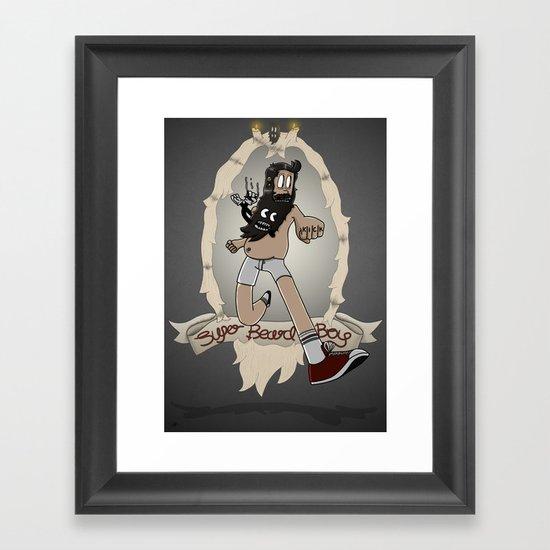 Super Beard Boy - Framed Justice! Framed Art Print