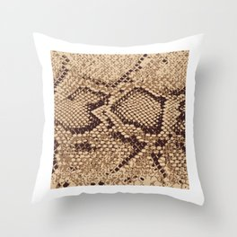 Sand Snake Skin Pattern Reptile Leather Style Gift Throw Pillow