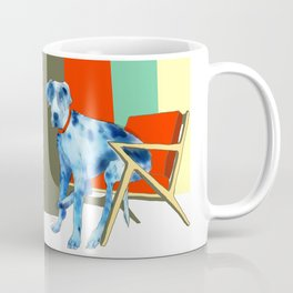 Great Dane in Chair #1 Coffee Mug