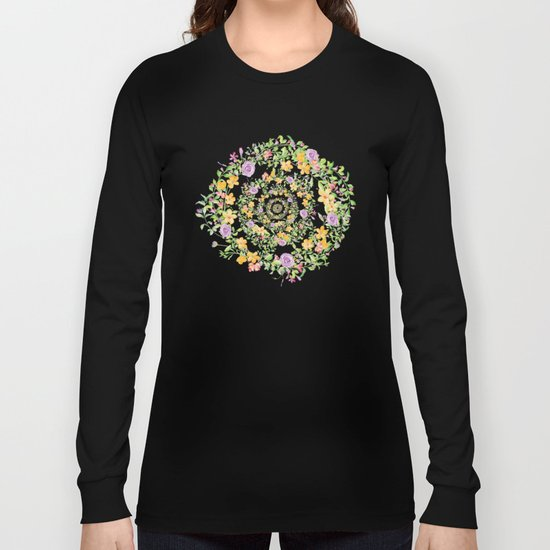 Floral Hypnosis Long Sleeve T-shirt