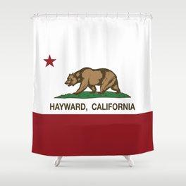 Hayward California Republic Flag  Shower Curtain