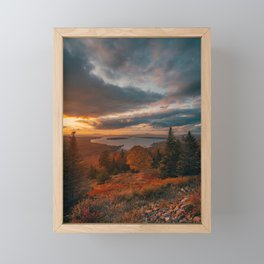Height of Land Sunset Framed Mini Art Print